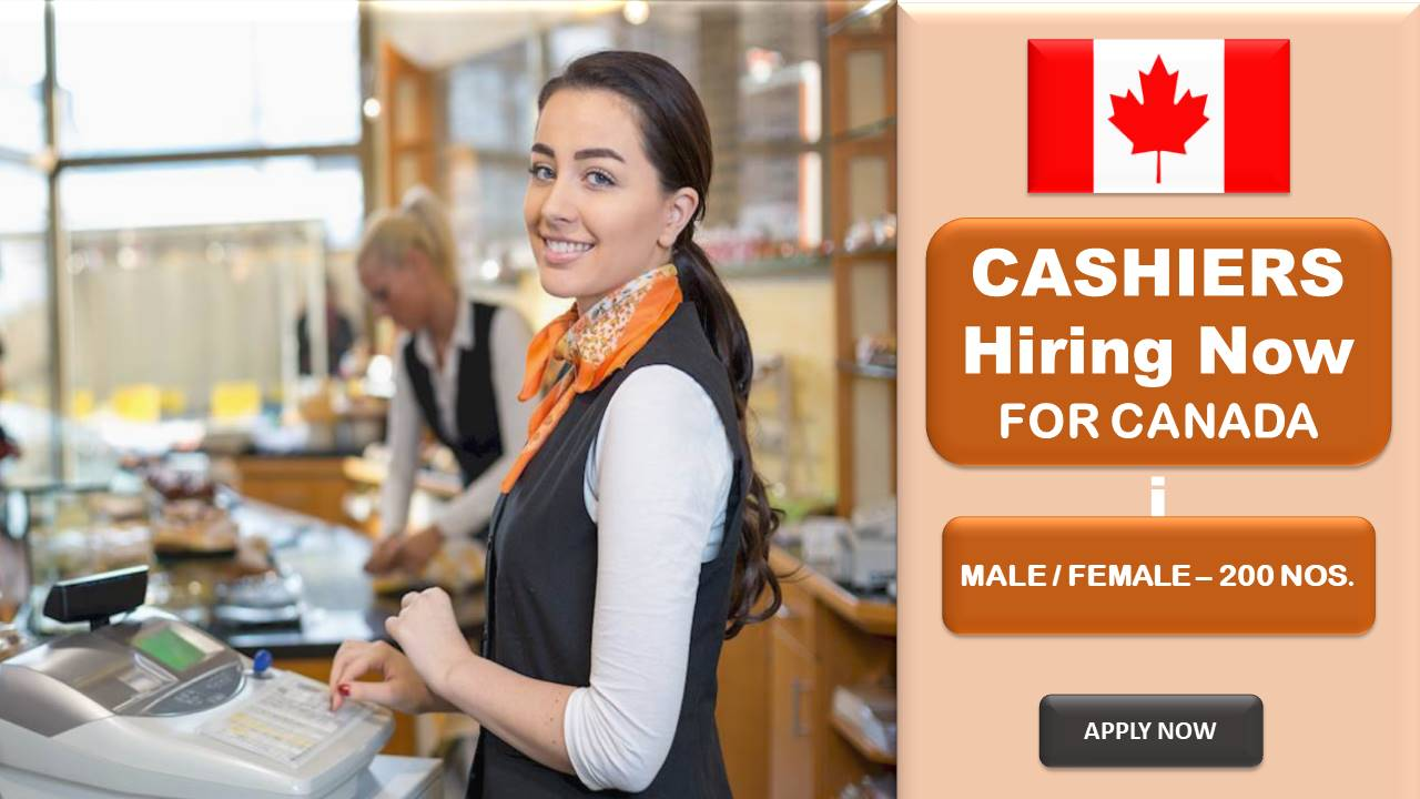 urgent hiring for cashiers for canada apply now