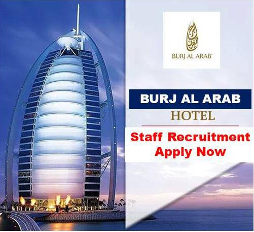 Burj al arab seven star hotel hiring now for dubai uae for Burj al arab 7 star hotel